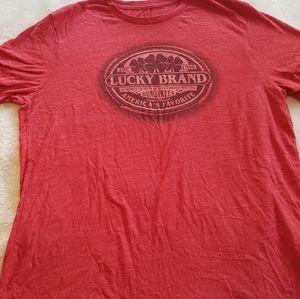 Red Lucky Brand Shirt